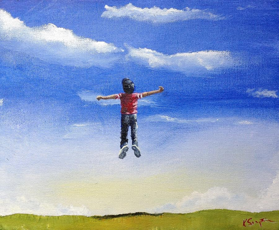 Reach For Clouds >> Reach For The Clouds Painting By Karl Simpson