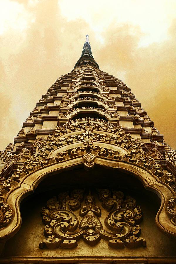 Temple Photograph - Reach For The Sky by Kim Lagerhem
