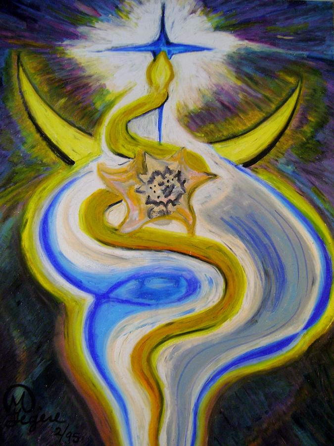 Snake Pastel - Reaching high by Therese Legere
