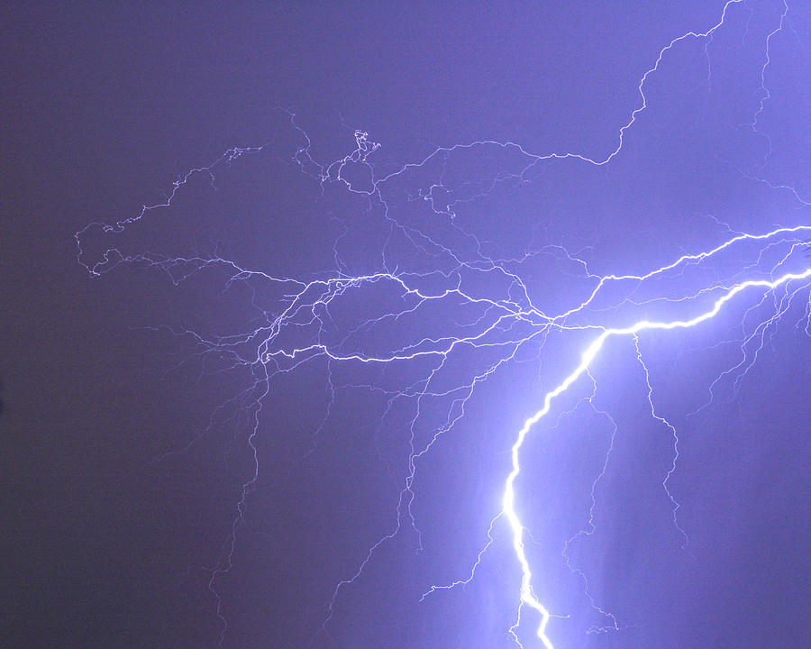 Lightning Photograph - Reaching Out Touching Me Touching You by James BO  Insogna