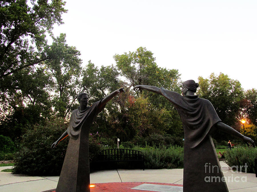 Sculpture Photograph - Reaching Out Two by Tina M Wenger