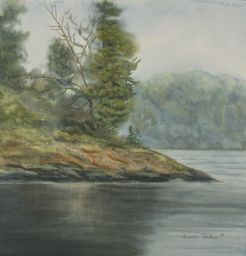 Landscape Painting - Reaching the Point by Heather Gallup