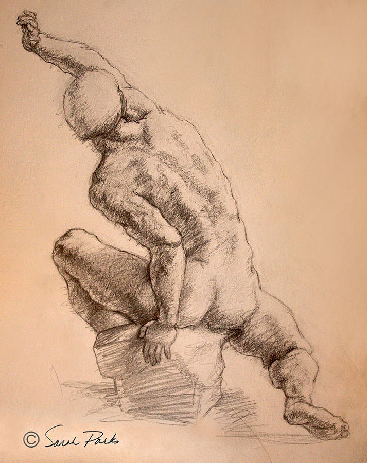 Figurative Drawing - Reaching Up by Sarah Parks