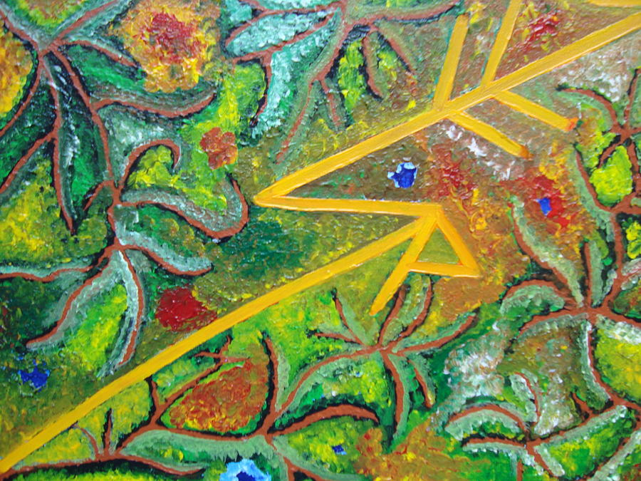 Spiritual Painting - Reaching4fulfillment by Joanna Pilatowicz