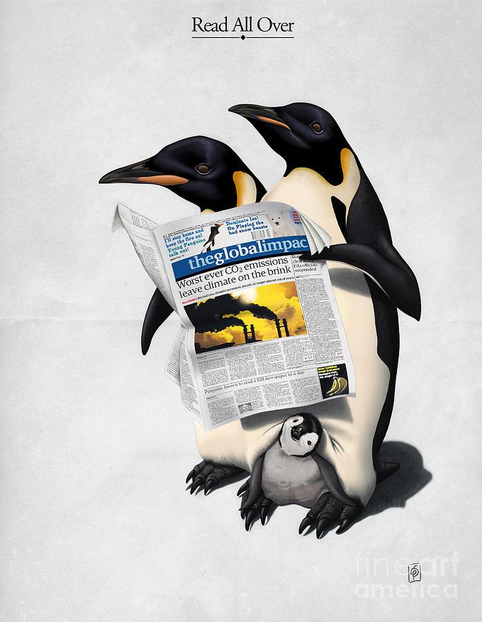 Illustration Digital Art - Read All Over by Rob Snow