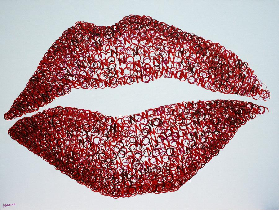 Lips Painting - Read My Lips by Lyndsey Hatchwell