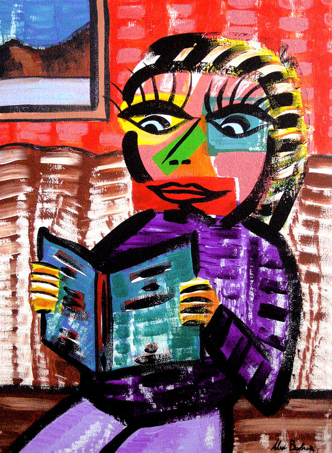 Girl Painting - Read To The Heart by Aleksandr Bodnar