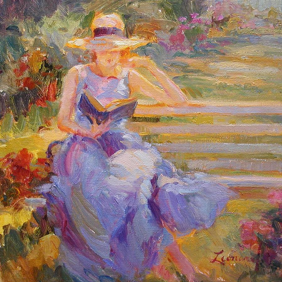 Emerson Painting - Reading Emerson by Diane Leonard
