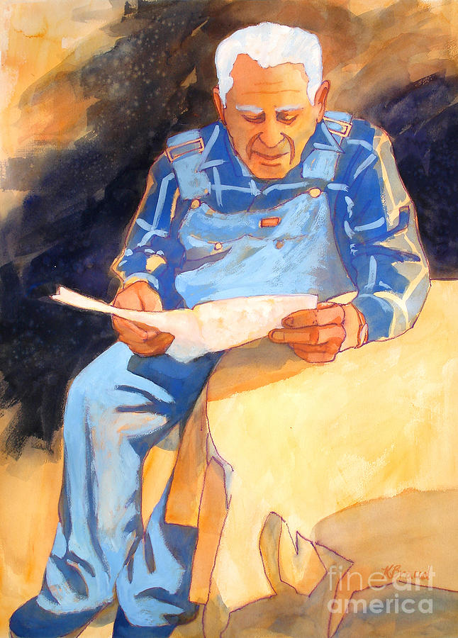 Paintings Painting - Reading Time by Kathy Braud