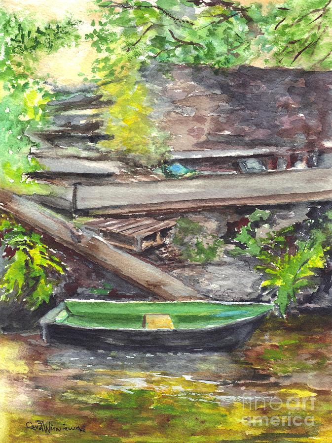 Watercolor Painting - Ready For A Row by Carol Wisniewski