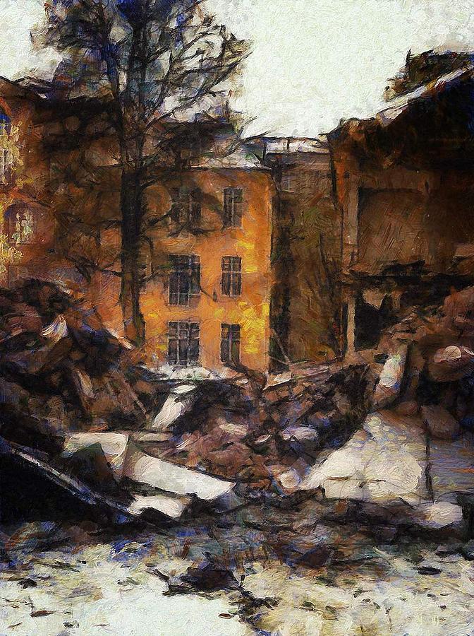 Urban Digital Art - Ready For Demolition by Gun Legler