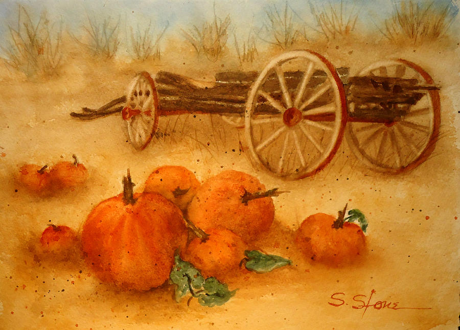 Nature Painting - Ready For Harvest by Sandra Stone