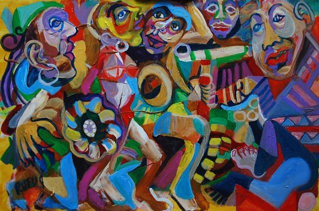 Carnival Painting - Ready Set Go by Rufus Norman