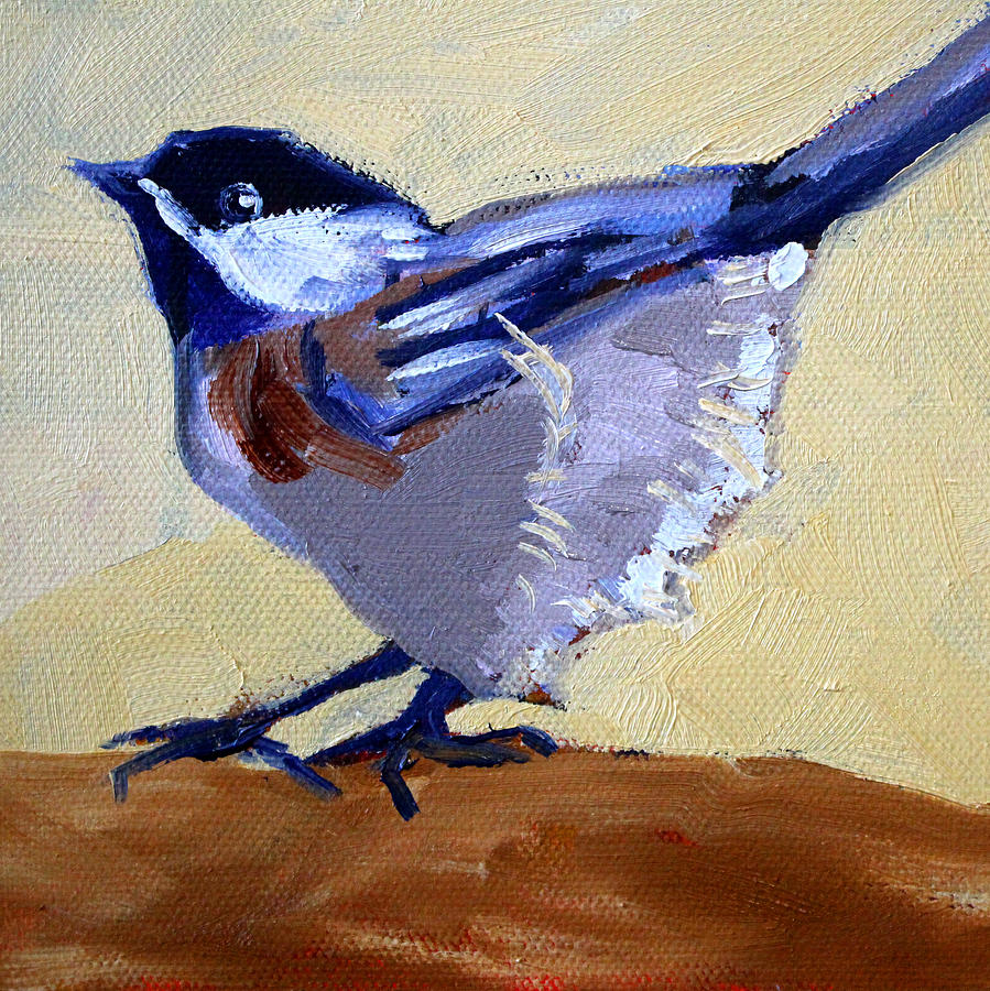 Bird Painting - Ready To Fly by Nancy Merkle