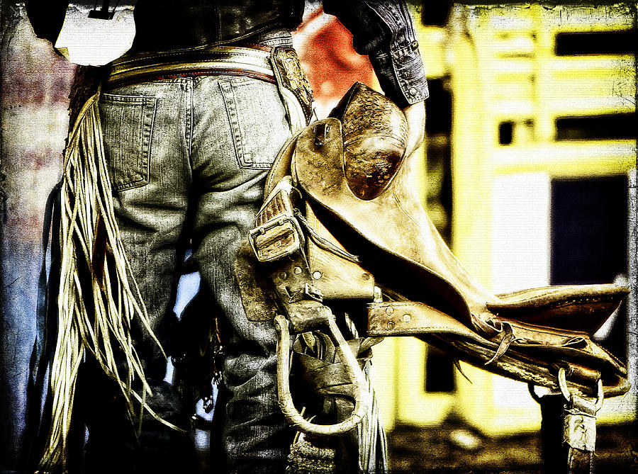 Cowboy Photograph - Ready To Ride by Lincoln Rogers