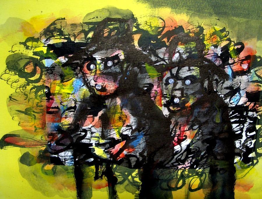 Acrylic Painting - Ready To Rob by Aquira Kusume
