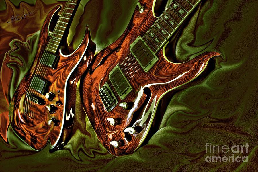 Acoustic Photograph - Ready To Rock Digital Guitar Art By Steven Langston by Steven Lebron Langston