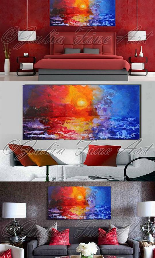 Landscape Painting - Real Size Interior Examples  by Julia Apostolova