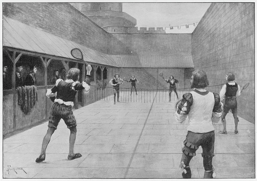 Windsor Drawing - Real Tennis Is Played At  Windsor by  Illustrated London News Ltd/Mar