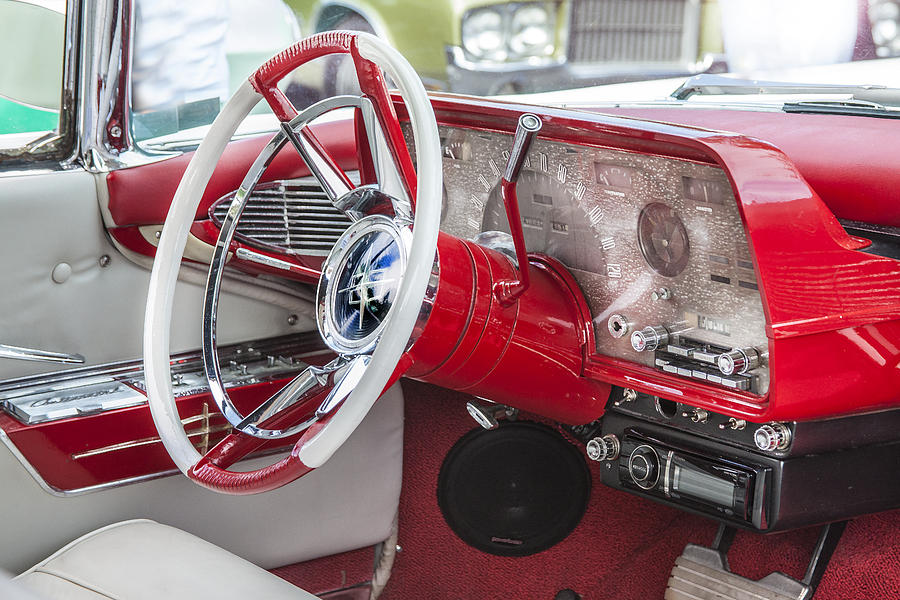 Lincoln Photograph - Really Red 1959 Lincoln Interior by Rich Franco