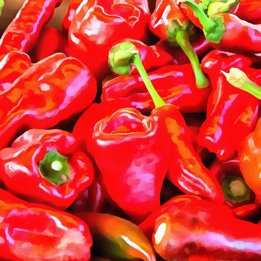 Really Red Peppers by Michael Flood