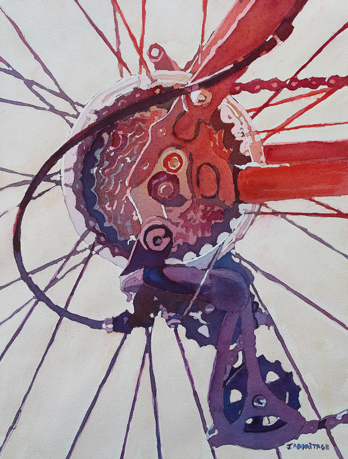 Rear Derailleur Painting by Jenny Armitage