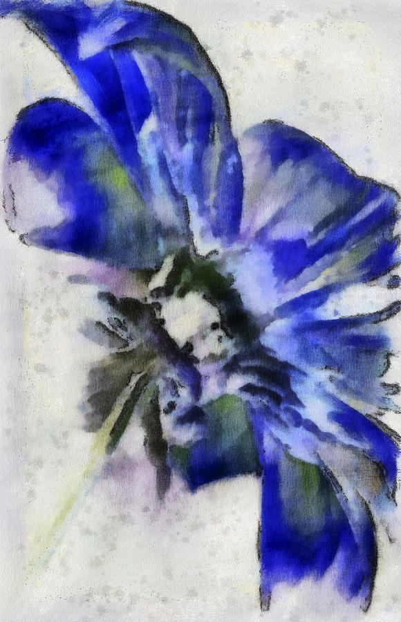 Flower Digital Art - Rear View by Jill Balsam