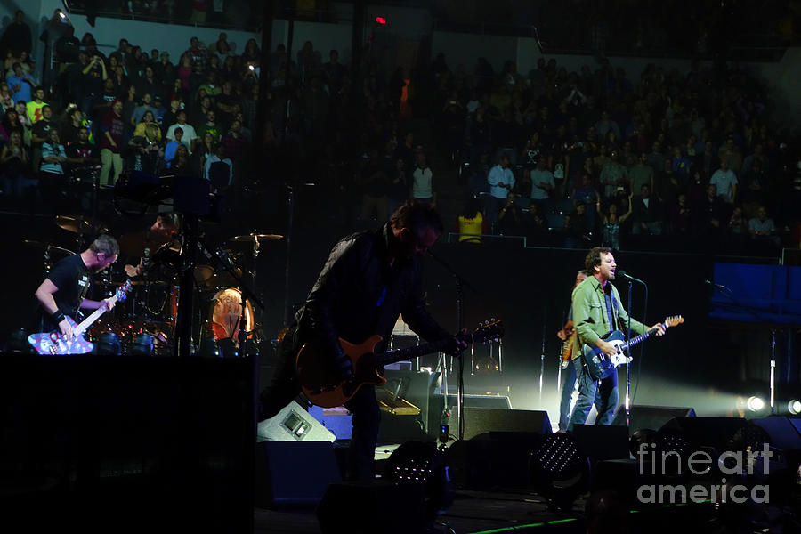 Pearl Jam Photograph - Rear View Mirror by Linda De La Rosa