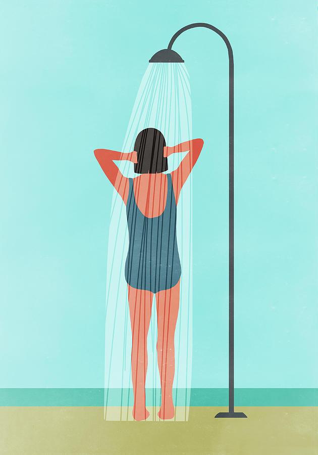 Rear View Of Woman Having Outdoor Digital Art by Malte Mueller