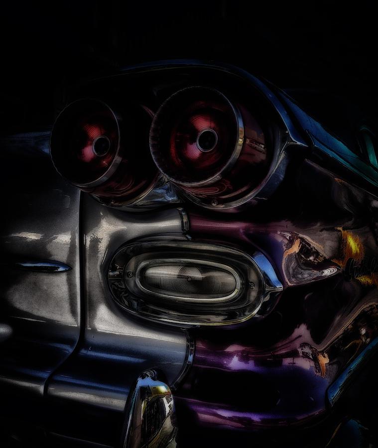 Tail Lights Digital Art - Rear Vision by John Monteath