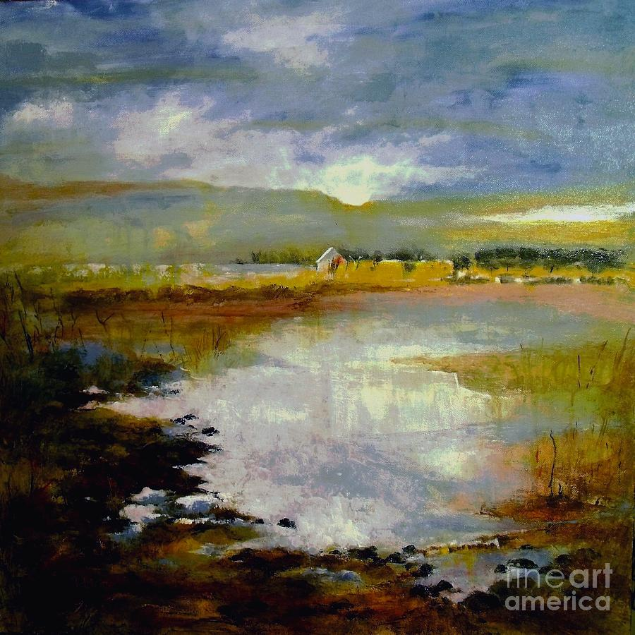 Landscape Painting - Reawakening by Madeleine Holzberg