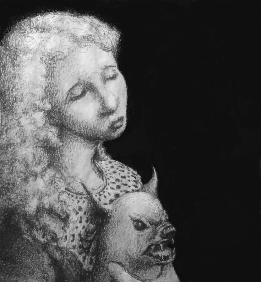 Sad Drawing - Rebecca by Louis Gleason