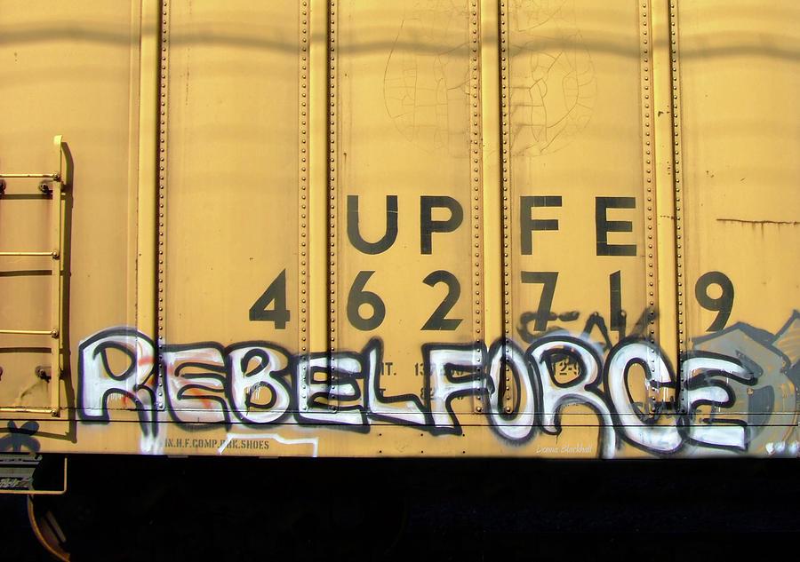 Graffiti Photograph - Rebel Force by Donna Blackhall