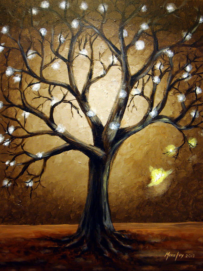 Tree Painting - Rebirth by Michael Ivy