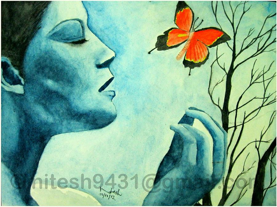 Butterfly Effect Painting - Rebirth by Nitesh Kumar