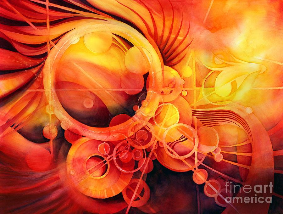 Watercolor Painting - Rebirth - Phoenix by Hailey E Herrera