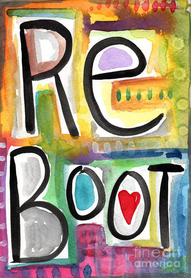 Reboot Painting - Reboot by Linda Woods