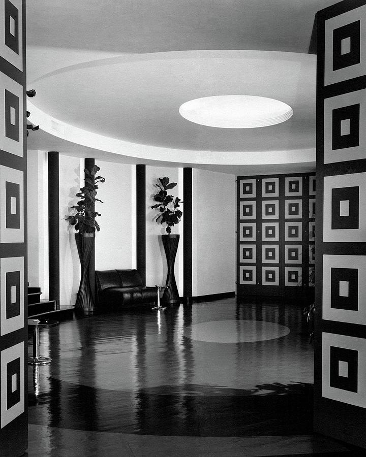 Reception Hall At The Terrace Club Photograph by Peter Nyholm