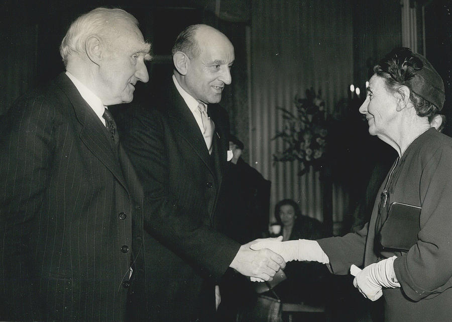 Retro Photograph - Reception To Mark Award Of Nobel Prize by Retro Images Archive