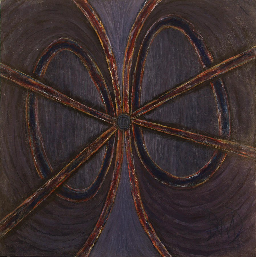 Abstract Expressionism Painting - Recession Ribbon by David Douthat