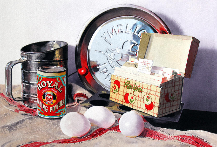 Baking Painting - Recipes by Denny Bond