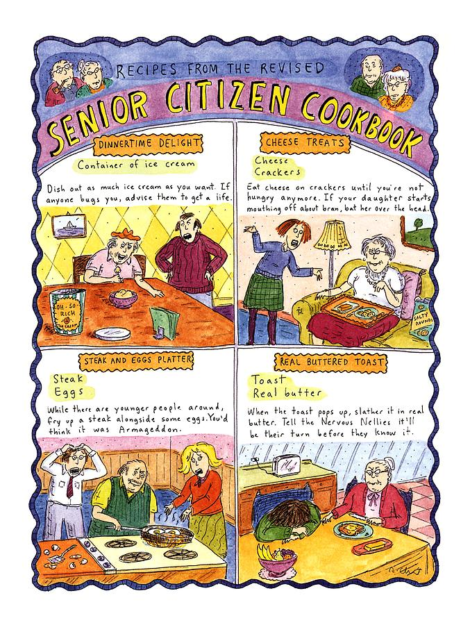 Fitness Drawing - Recipes From The Revised Senior Citizen Cookbook by Roz Chast