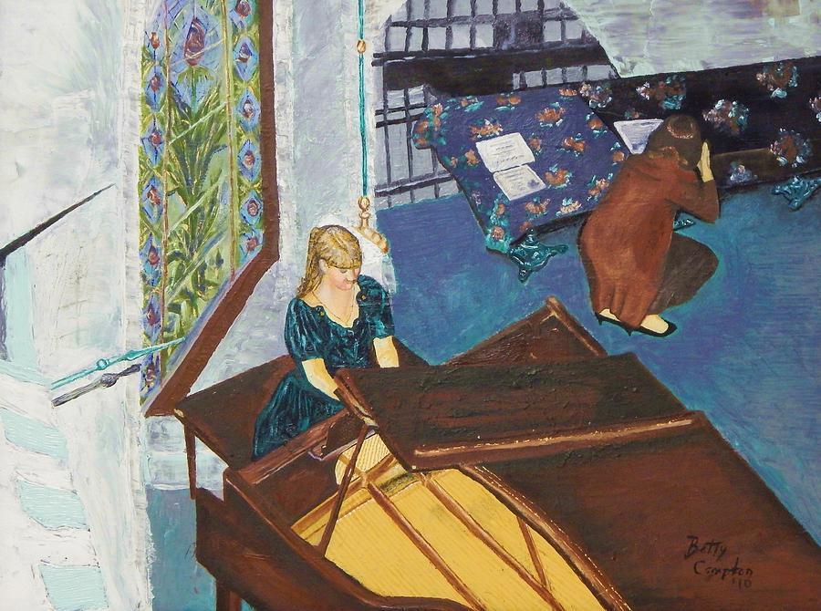 Piano Recital Painting - Recital Rehersal by Betty Compton
