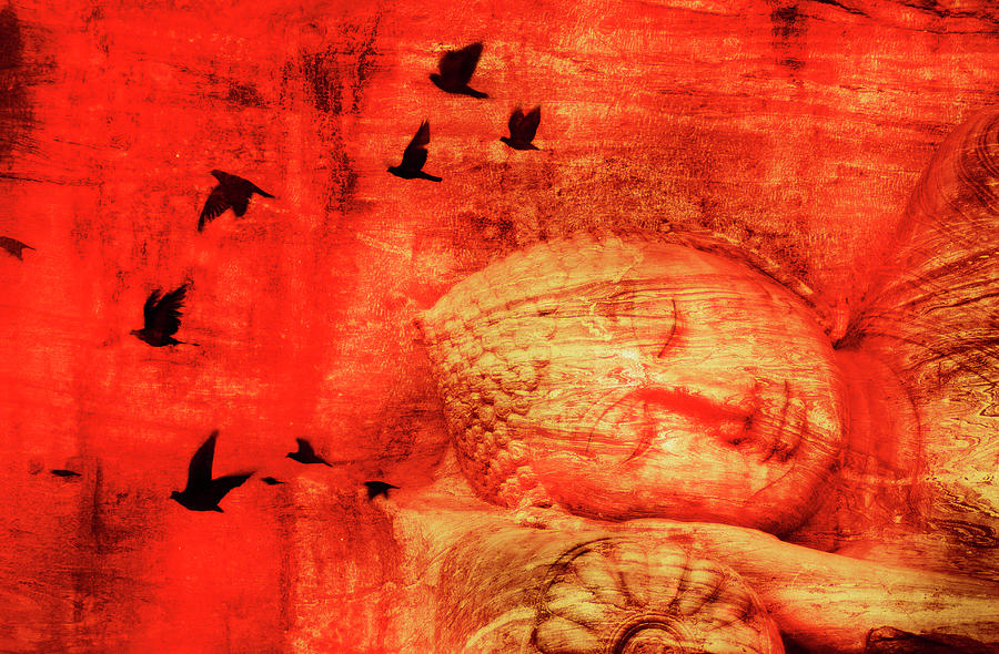 Tranquility Photograph - Reclining Buddha by Grant Faint