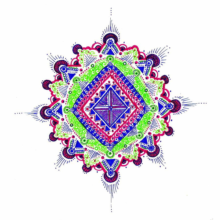 Mandala Drawing - Reconciliation by Marie Parker