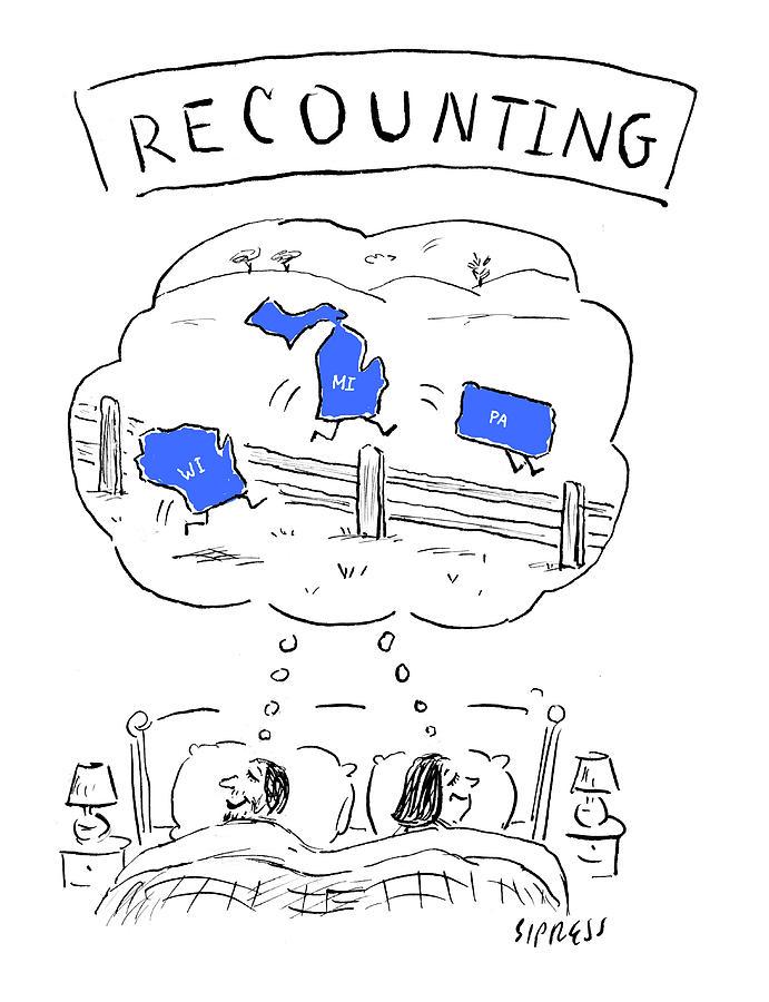 Cartoon Drawing - Recounting by David Sipress