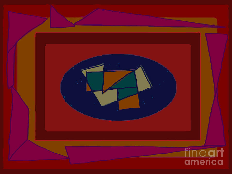 Rectangles Digital Art - Rectangles Ovals by Meenal C