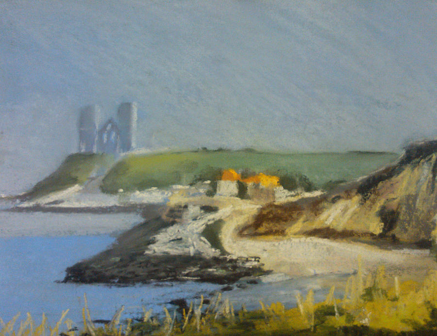 Reculver Pastel - Reculver Haze by Paul Mitchell
