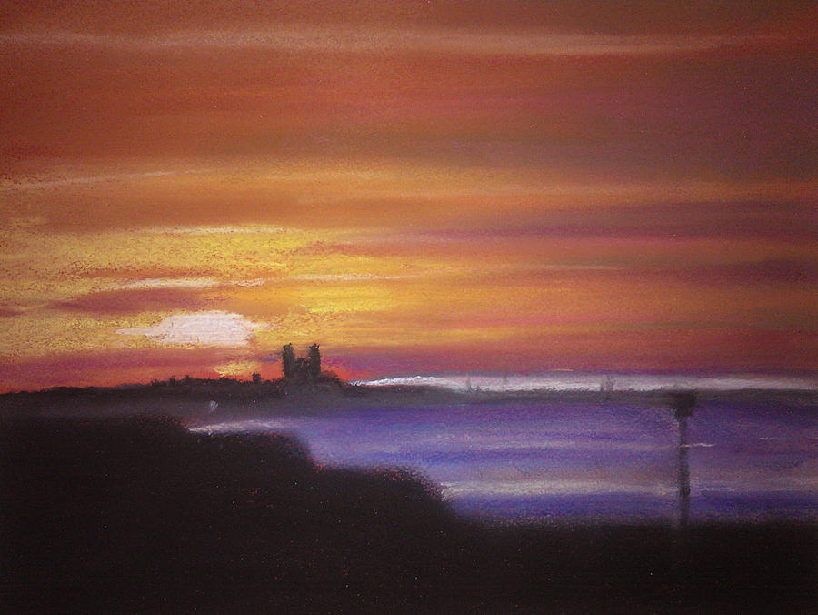 Reculver Pastel - Reculver Sunset by Paul Mitchell