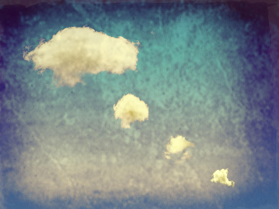 Blue Photograph - Recycled Clouds by Amanda Elwell